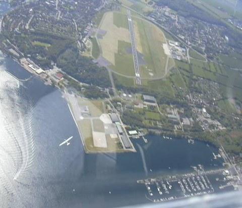 Der Flugplatz von oben